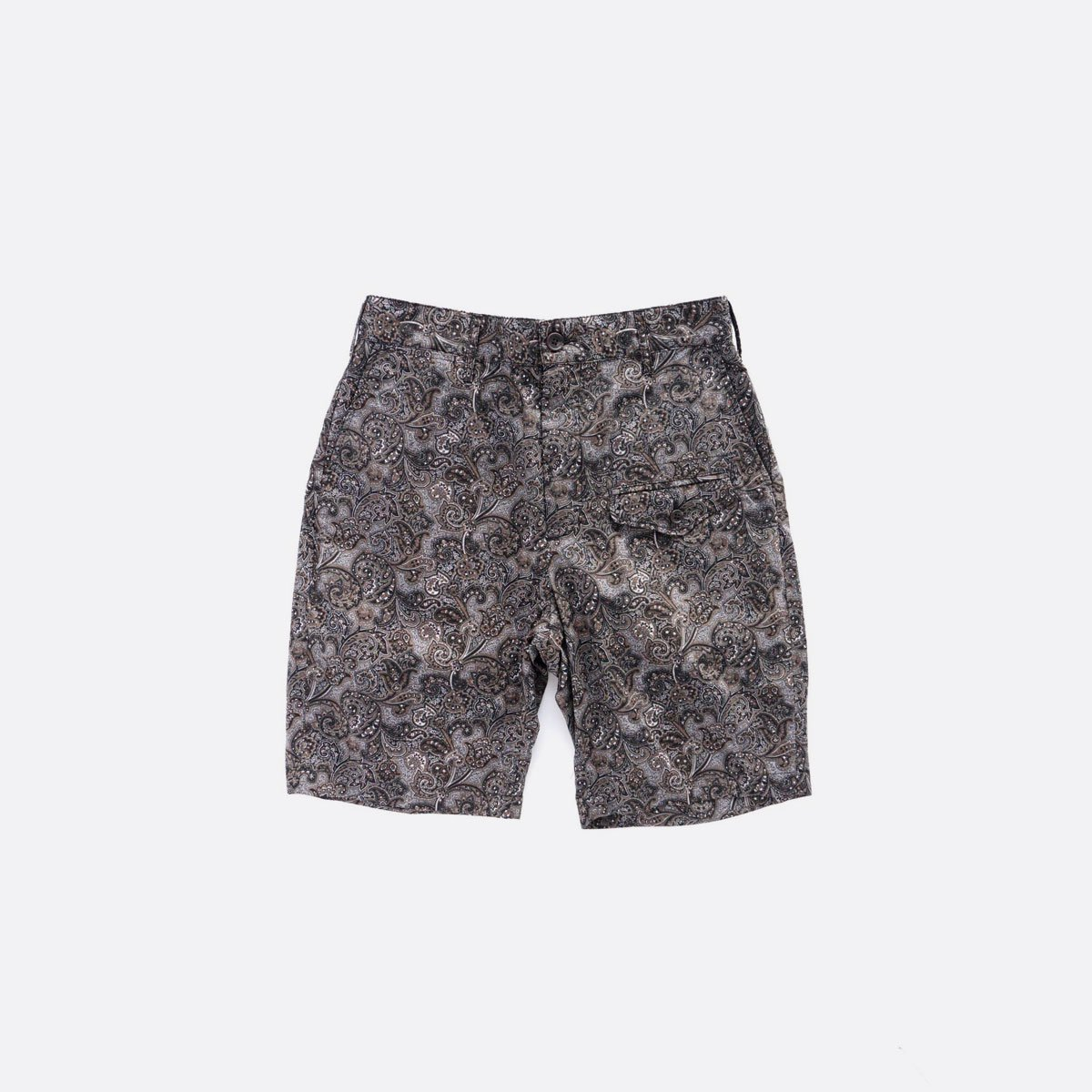Engineered Garments  Ghurka Short - Paisley Print  (Black/Brown)