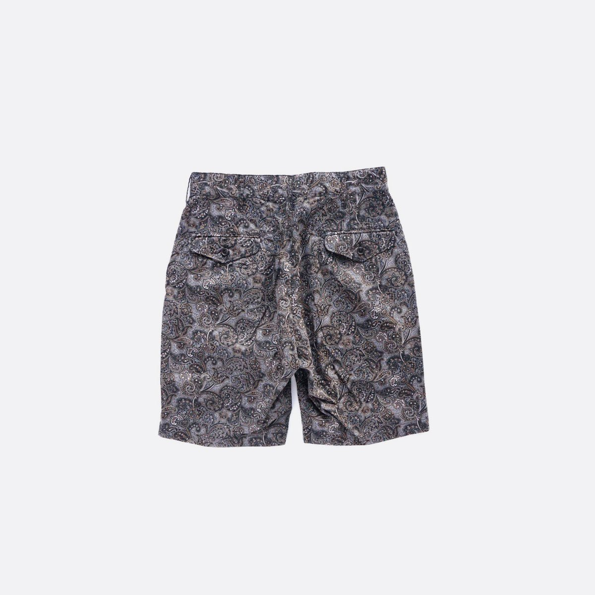 Engineered Garments  Ghurka Short - Paisley Print  (Black/Brown)2