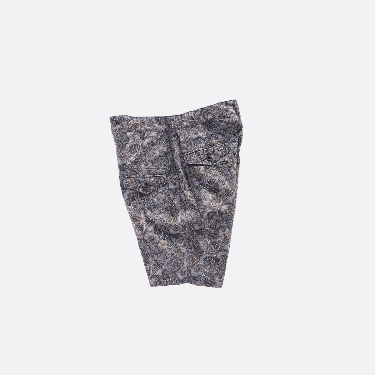 Engineered Garments  Ghurka Short - Paisley Print  (Black/Brown)3