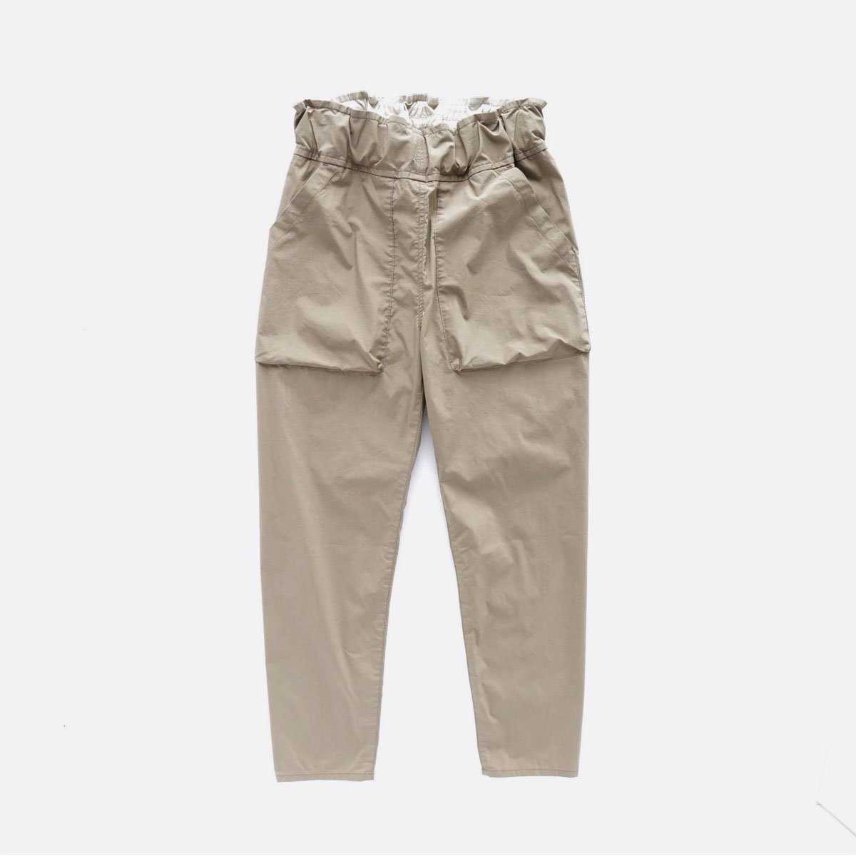 FIRMUM COTTON & POLYESTER STRETCH TYPEWRITER EASY TAPERED PANTS (LIGHT KHAKI)