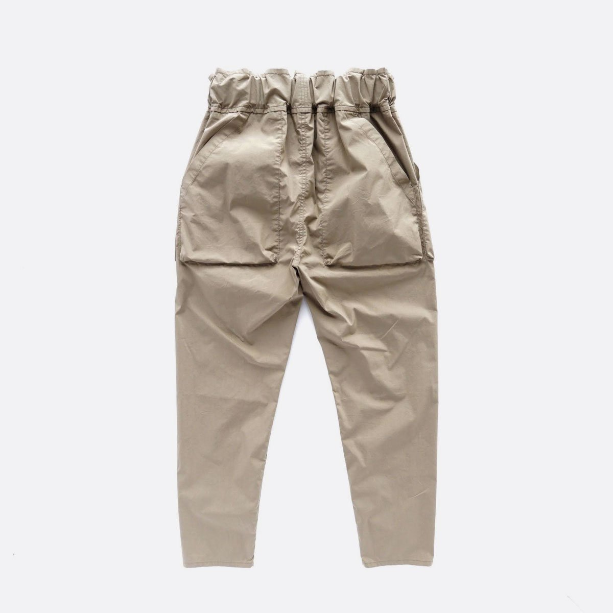 FIRMUM COTTON & POLYESTER STRETCH TYPEWRITER EASY TAPERED PANTS (LIGHT KHAKI)2