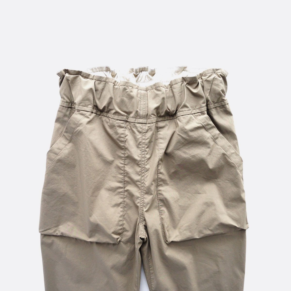 FIRMUM COTTON & POLYESTER STRETCH TYPEWRITER EASY TAPERED PANTS (LIGHT KHAKI)3