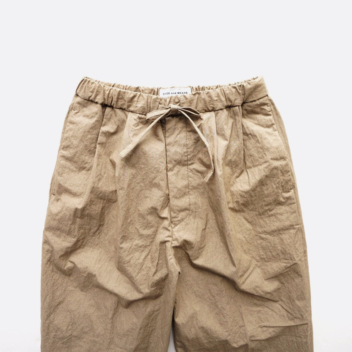 ENDS & MEANS RELAX FIT TROUSERS  (KHAKI)3