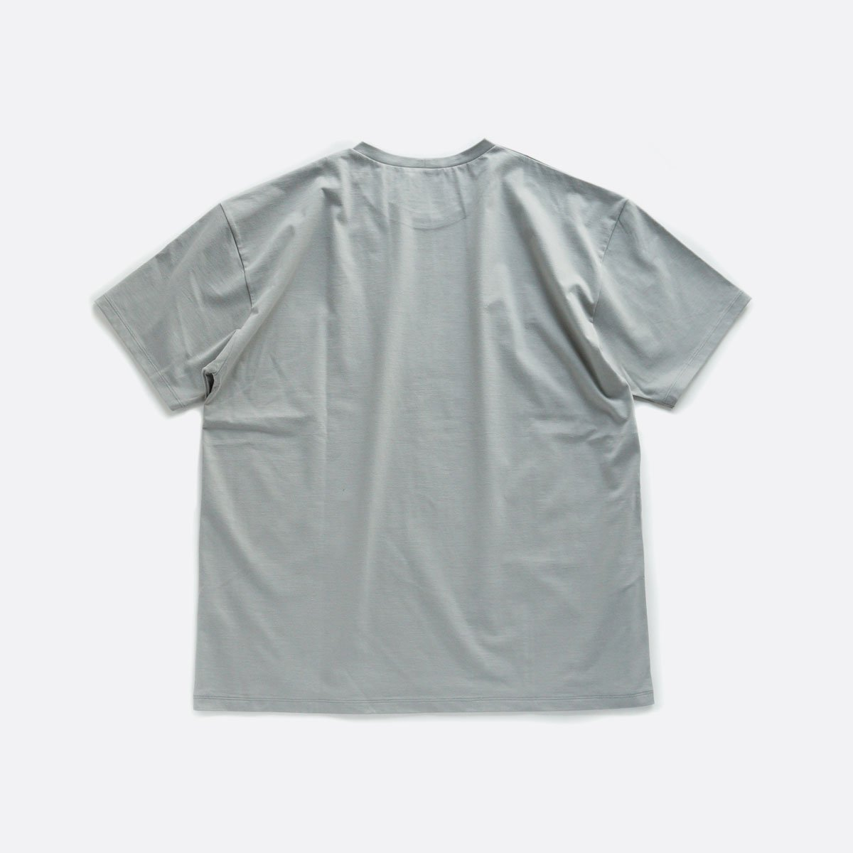 ATON NUBACK COTTON OVERSIZED T-SHIRT (LIGHT GRAY)2