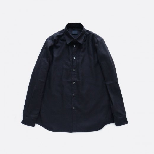 超高密度バックサテンシャツ 羽衿付き
