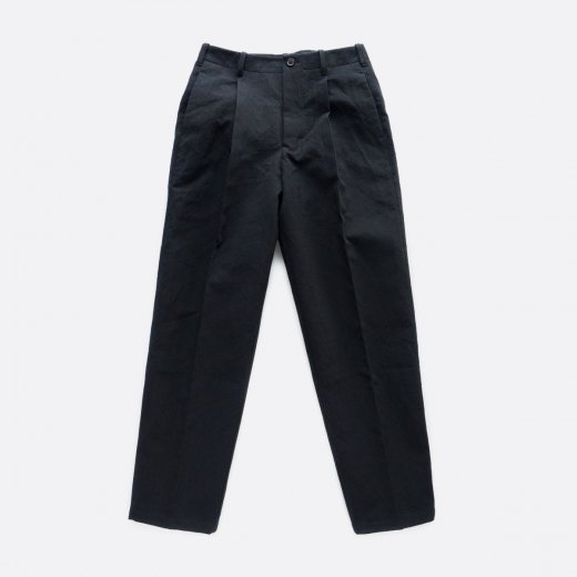 別注 高密度二重織りコットン・ワンタックセミワイドパンツ