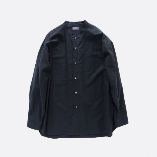 COTTON LINEN STAND COLLAR SHIRT