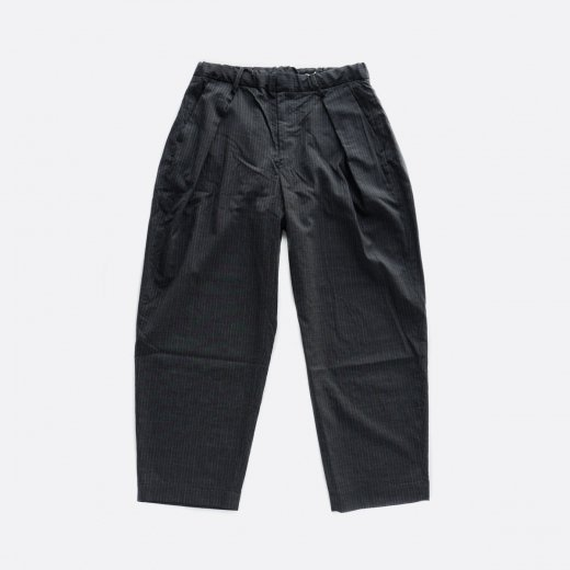 WASHABLE WOOL TRO W-TUCK PANTS