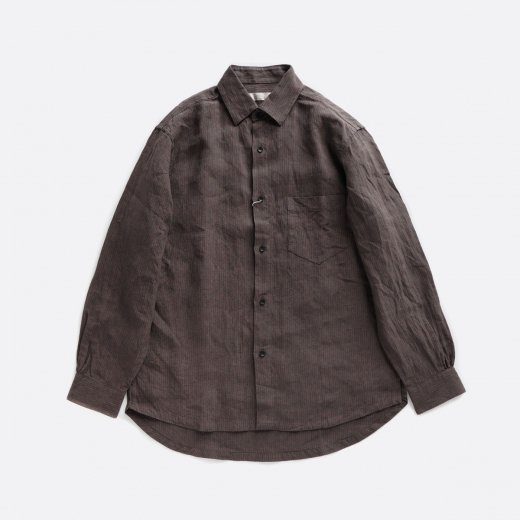 <img class='new_mark_img1' src='//img.shop-pro.jp/img/new/icons39.gif' style='border:none;display:inline;margin:0px;padding:0px;width:auto;' />OVER DYED LINEN STRIPE WIDE SHIRTS