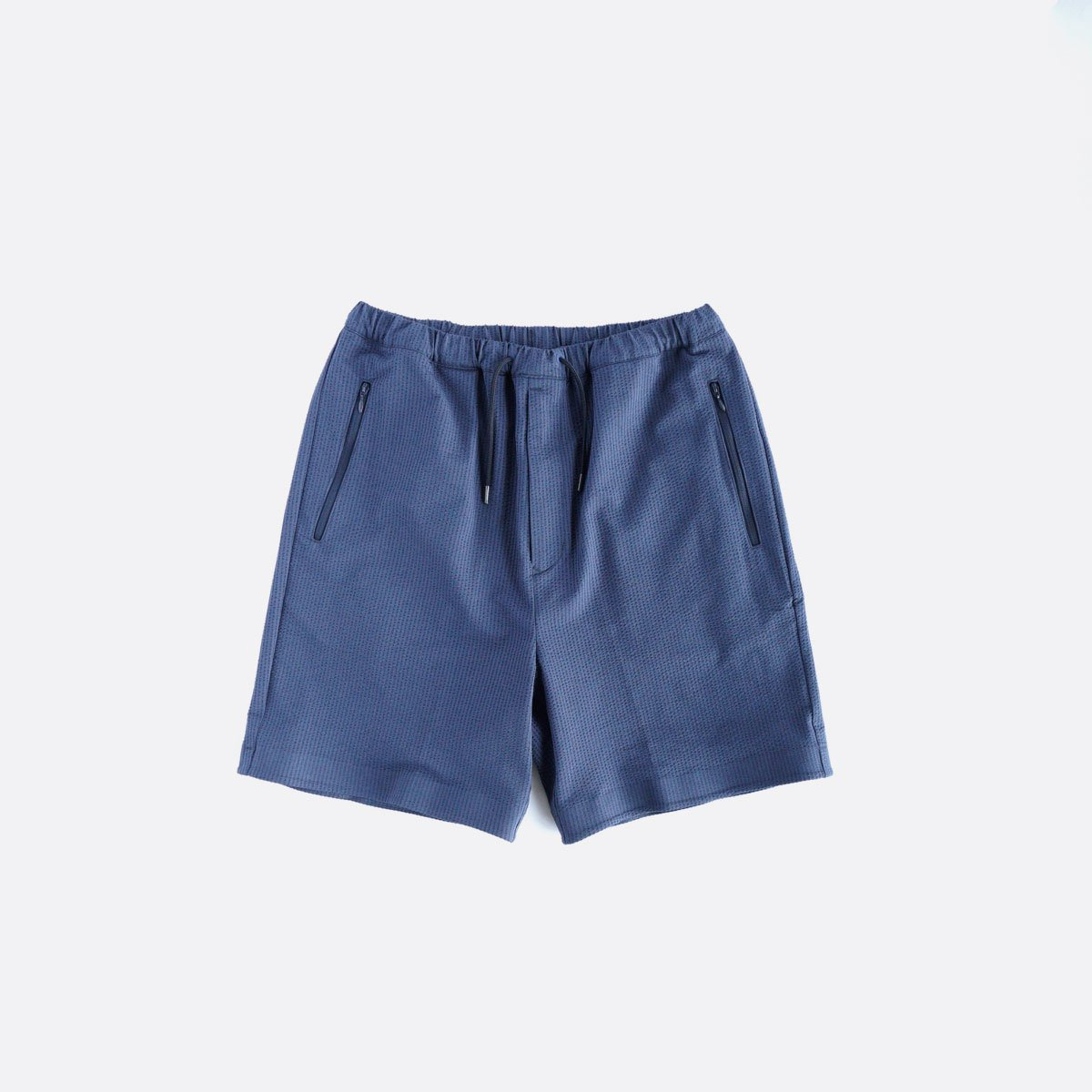 DESCENTE PAUSE SEERSUCKER SHORT PANTS (NAVY)