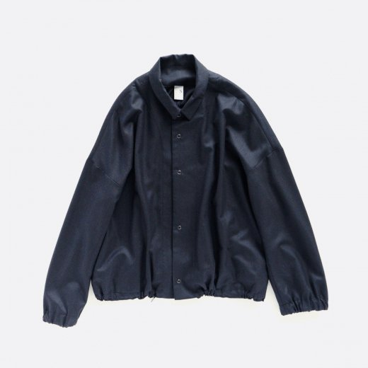 SUPER 140's WOOL SURGE GATHER OVER SIZE SHIRT OUTER