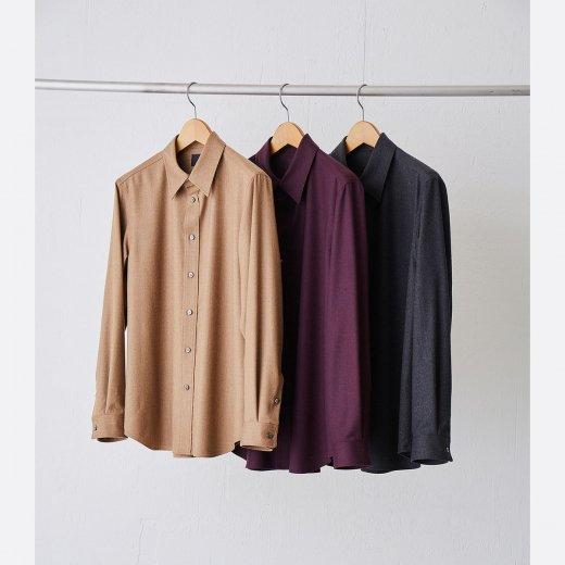 ノーミュールシングウールシャツ