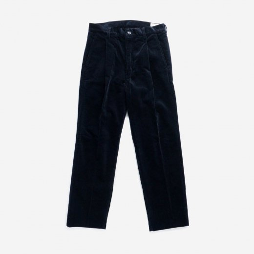 CORDUROY ONE-TUCK TROUSERS