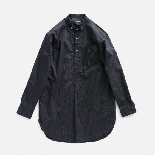 BANDED COLLAR LONG SHIRT