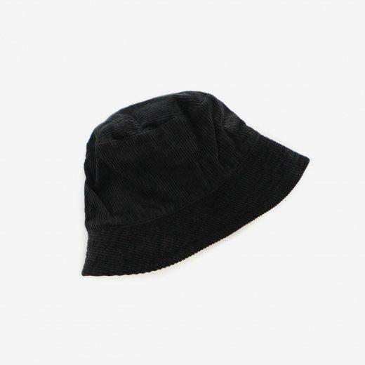 BUCKET HAT - 8W CORDUROY  (BLACK)