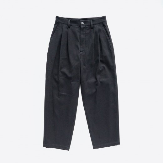 COTTON TWILL TUCK PANTS