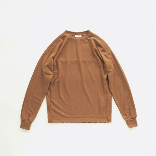 WOOL JERSEY TUCK SLEEVE OVER L/S