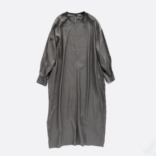 CUPRO COTTON CREW NECK DRESS