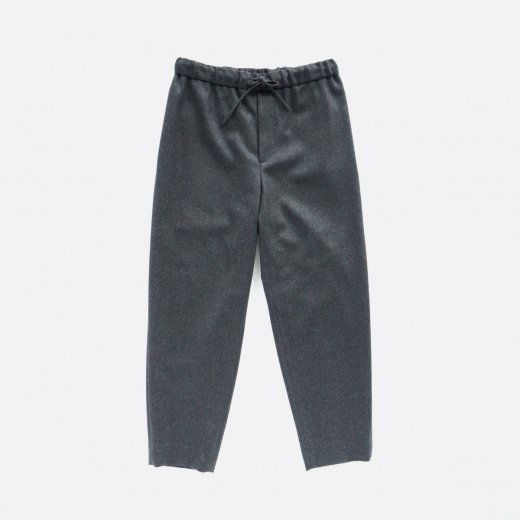 WOOL FLANNEL EASY TAPERED PANTS
