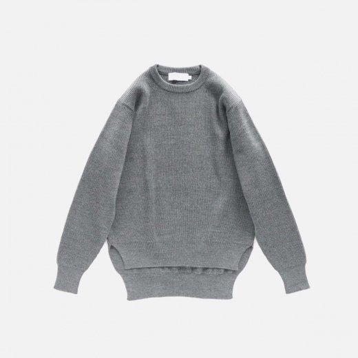 HIGH DENSITY CREW NECK KNIT
