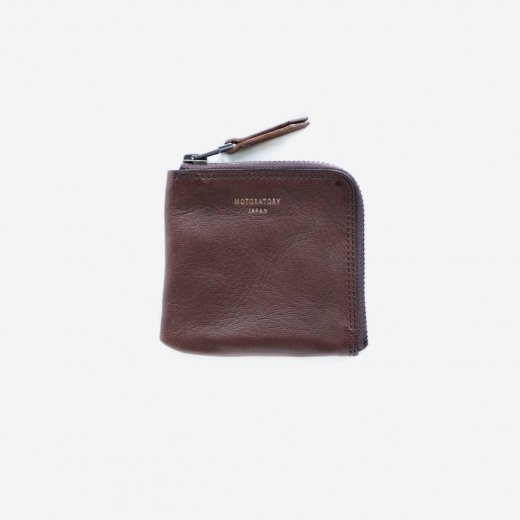 GOAT LEATHER HALF ZIP WALLET ''elle''