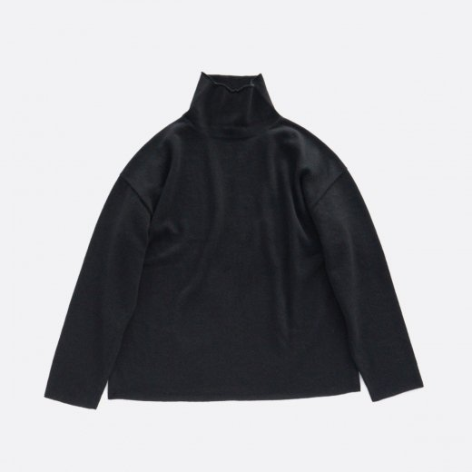 BOTTLE NECK KNIT PULLOVER