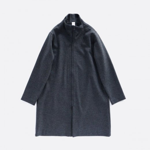 WOOL MELTON INTERROCK COAT