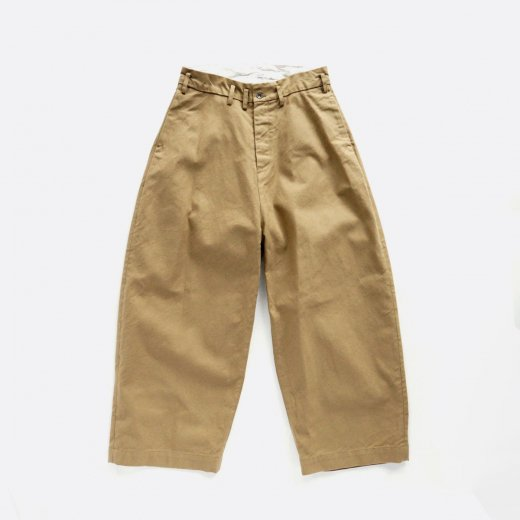 <img class='new_mark_img1' src='https://img.shop-pro.jp/img/new/icons1.gif' style='border:none;display:inline;margin:0px;padding:0px;width:auto;' />YARN DYED HEAVY MILLITARY BUKOTSU SERGE WIDE PANTS