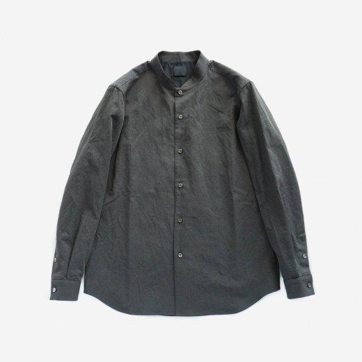 有松塩縮加工リネンシャツ 羽襟なし