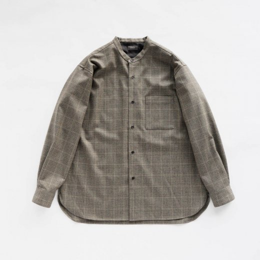 <img class='new_mark_img1' src='https://img.shop-pro.jp/img/new/icons1.gif' style='border:none;display:inline;margin:0px;padding:0px;width:auto;' />CHECK WOOL STAND COLLAR SHIRT