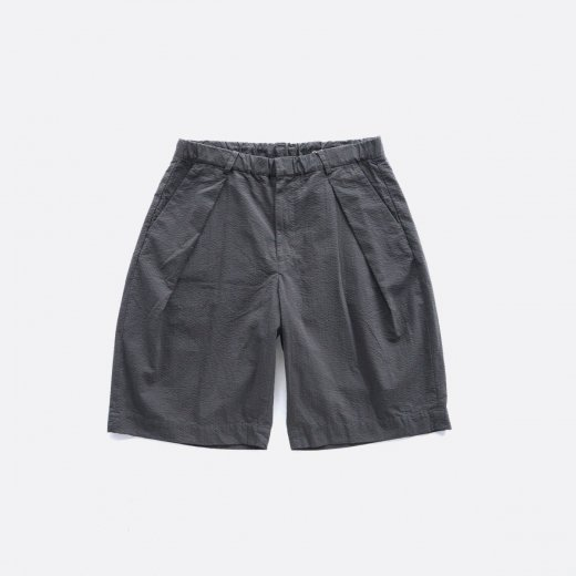 -21SS先行受注- SUPIMA COTTON SEERSUCKER W-TUCK SHORTS
