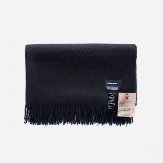 LARGE BRUSHED STOLE NATURAL PURE BLACK