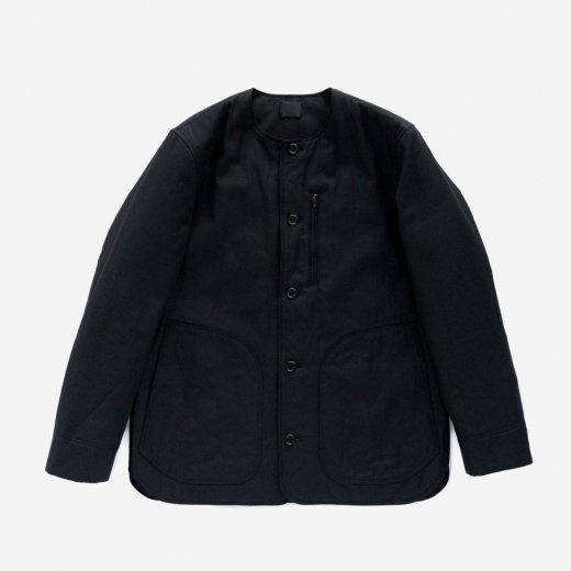 コットンキュプラ・中綿入りノーカラージャケット