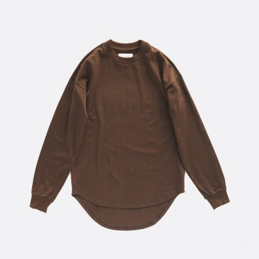 ONE SIDE RAGLAN TEE ROUND HEM L/S