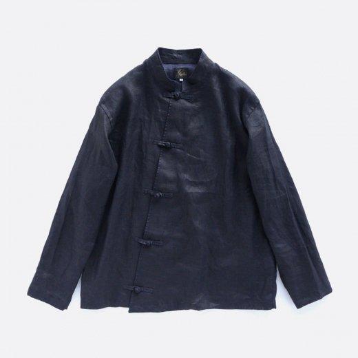 CHINA SHIRT -LINEN CLOTH / INK DYE
