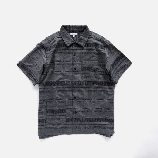 CAMP SHIRT -HORIZONTAL STRIPE JACQUARD