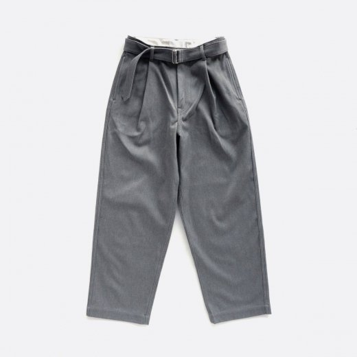 HARD TWILL BELTED PANTS
