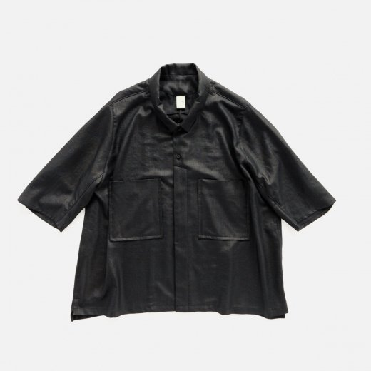 LINEN LIKE POLYESTER BUTCHER CLOTH CALENDERING SHIRT