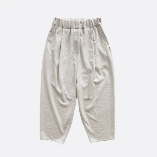 LINEN LIKE POLYESTER BUTCHER CLOTH CALENDERING SARROUEL PANTS