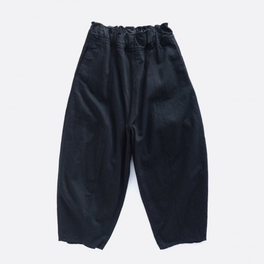 10/-SLUB COTTON × 10/-COTTON SULFUR DYEING DENIM WIDE PANTS