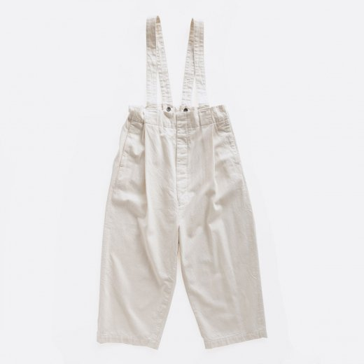 10/-SLUB COTTON × 10/-COTTON SULFUR DYEING DENIM SUSPENDERS PANTS