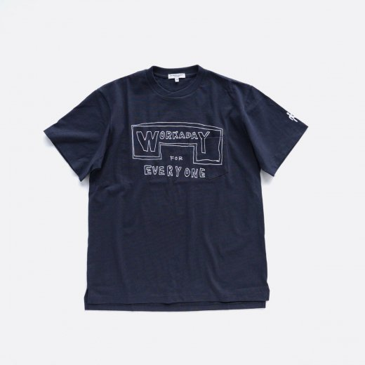 WORKADAY PRINTED C/N POCKET TEE -WORKADAY FOR EVERYONE