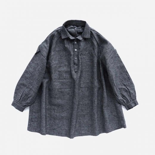 """BRESSON"" LINEN LONG SMOCK SHIRT"