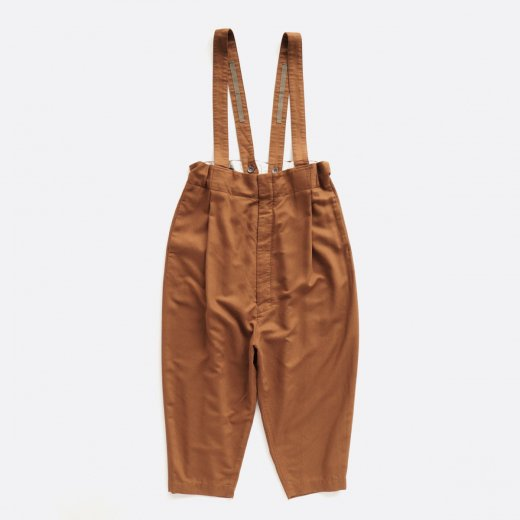 SEMI-GLOSS RAYON BACK SATIN SUSPENDERS PANTS
