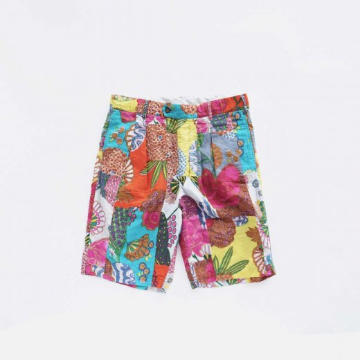 SUNSET SHORT -COTTON FLORAL PATCHWORK