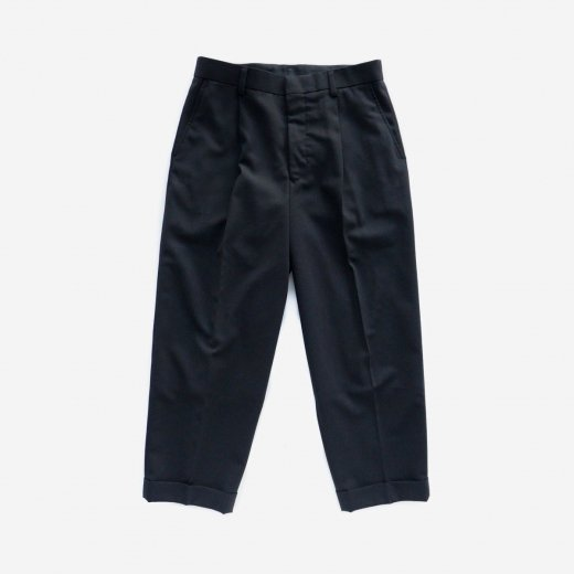WOOL PANAMA TAPERED SLACKS