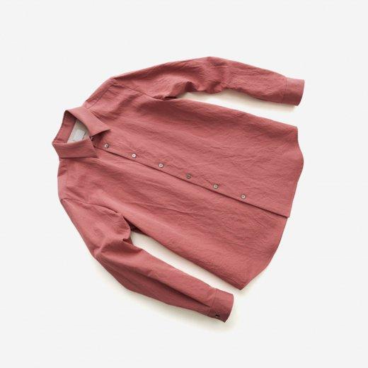 -21SS先行受注- 有松塩縮加工リネンシャツ「羽襟付き」