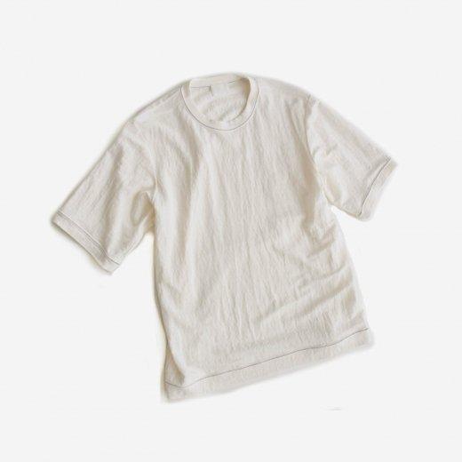 -21SS先行受注- 塩縮加工リネンニットTシャツ