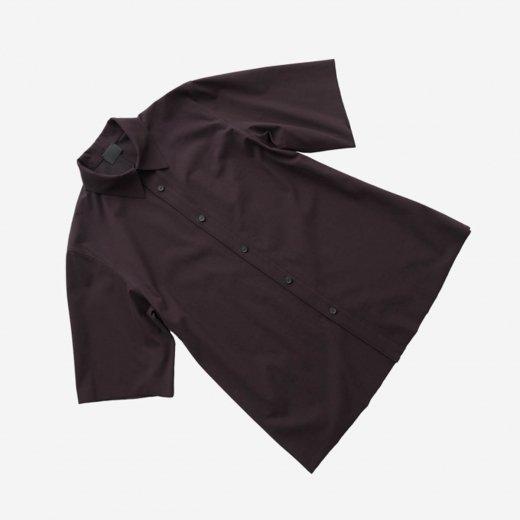 -21SS先行受注- 60/- フリーカット強撚ポンチ・ショートスリーブシャツ