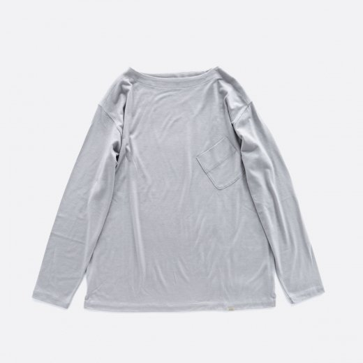 -21AW先行受注- SUPER120S WASHABLE WOOL BOAT NECK L/S TEE